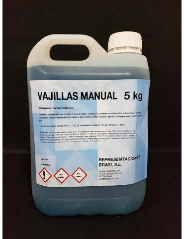 Lavavajillas manual 5 kg.