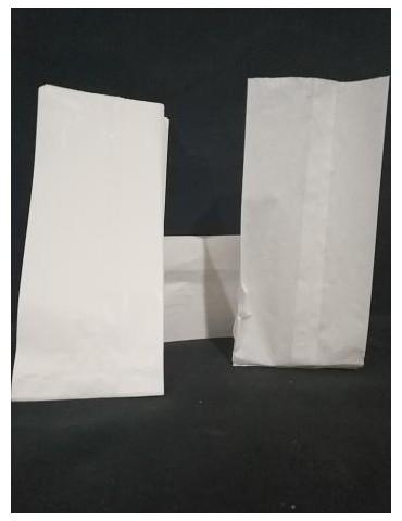 Bolsas Papel kraff Blanco.10+5x25.
